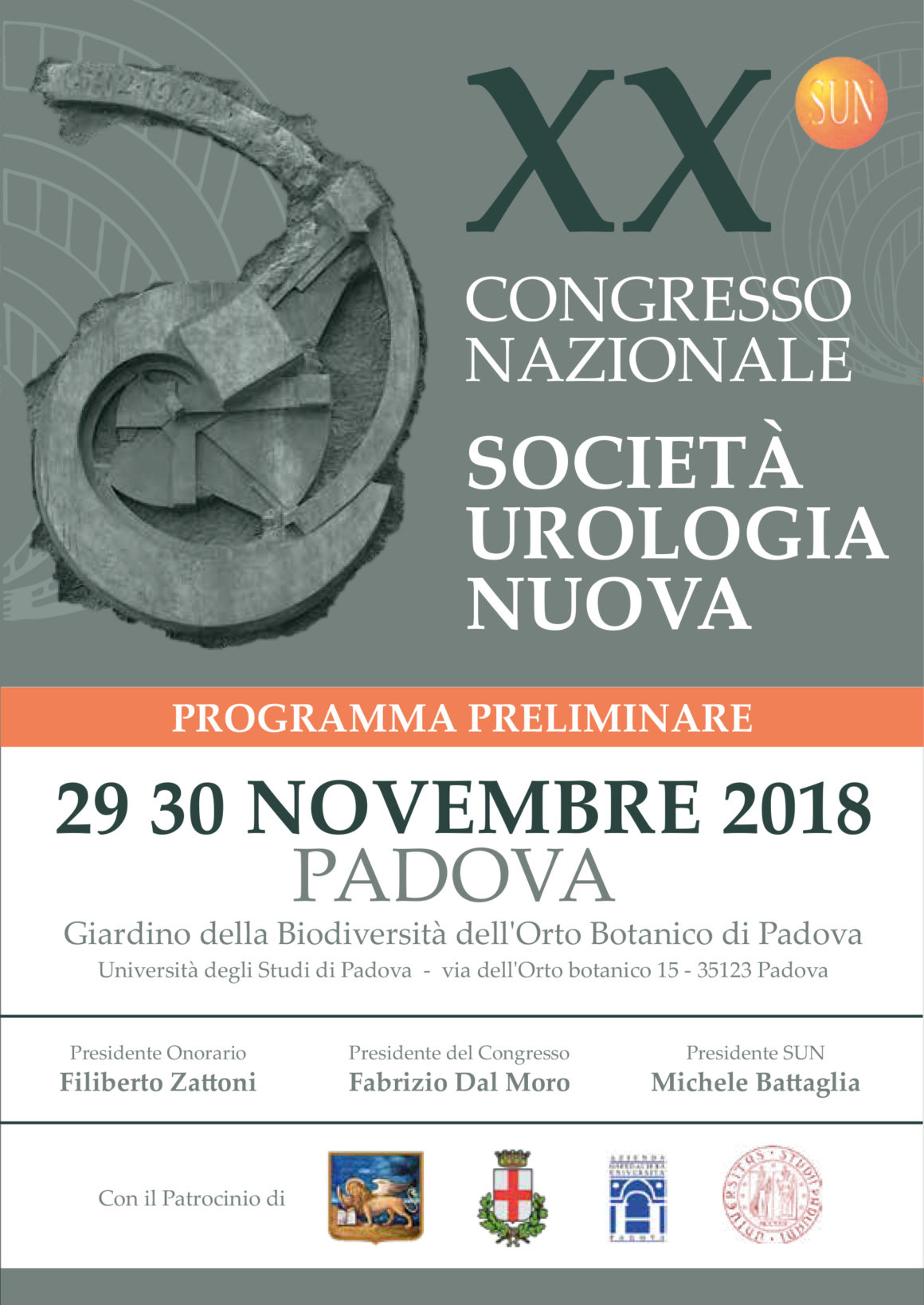 XX Congresso Nazionale Società Urologia Nuova – Padova – 29-30 Novembre 2018