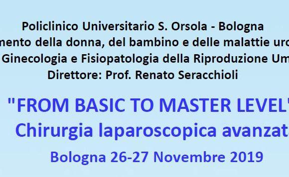 FROM BASIC TO MASTER LEVEL – Chirurgia laparoscopica avanzata – Bologna – 26-27 novembre 2019
