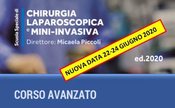 CHIRURGIA LAPAROSCOPICA E MINI-INVASIVA – Ospedale Civile Sant'Agostino, Baggiovara (MO) – 22-24 Giugno 2020
