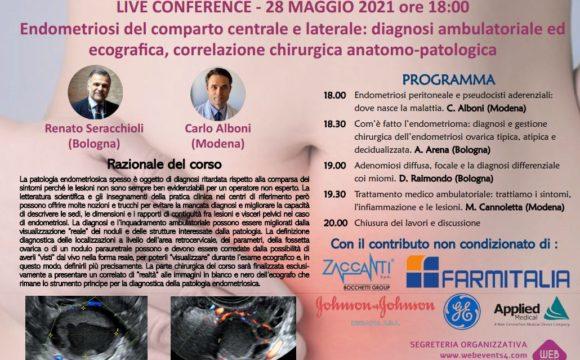 ENDOMETRIOSI DEL COMPARTO CENTRALE E LATERALE – Live Conference – 28 Maggio 2021 h. 18